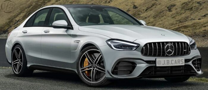 2022 Mercedes AMG C63 front rendering