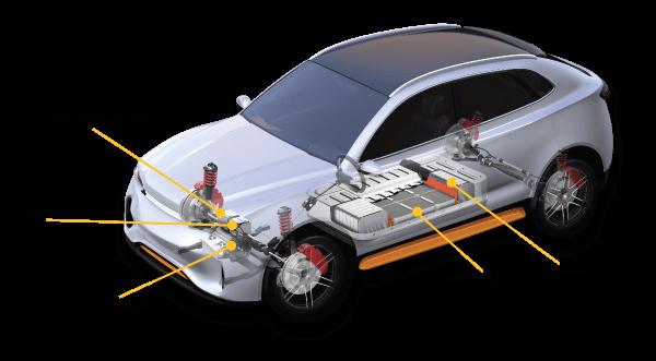 EV تدهور البطارية السيارة الكهربائية